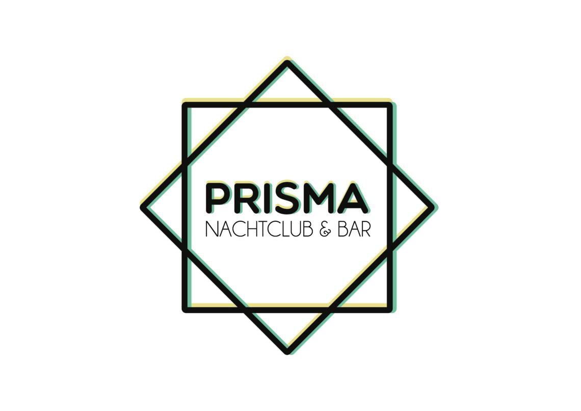 Logo des Nachtclubs Prisma auf neutralem Hintergrund